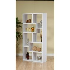 Furniture Of America Highpoint Contoured Bookcase - White
