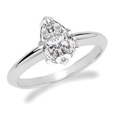 Preset Pear Shape Diamond Engagement Rings at DiamondonNet