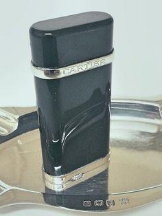 Cartier Lighter  Designer  Platinum  Black by STUNNINGCOLLECTIBLES