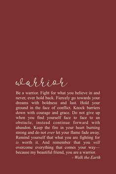 Warrior quotes, quotes of courage, fight for what you love poetry and inspirational words