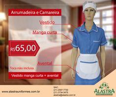 Promoção de uniformes para arrumadeira e camareira, vale a pena conferir!