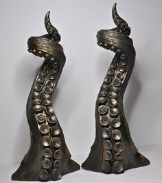 Pair of Tentacle candlestick holders by Dellamorteco on Etsy