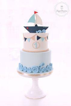 Sugar Dreams עוגות מעוצבות Novelty Birthday Cakes, First Birthday Cakes, Beautiful Cakes, Amazing Cakes, Henna Cake, Marine Cake, Nautical Cake, Bag Cake, Oreo Cake