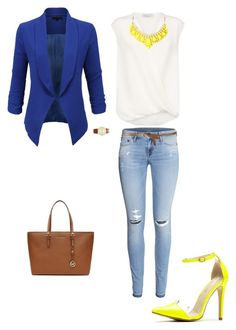 """""""Untitled #86"""" by emeraldmlove ❤ liked on Polyvore featuring LE3NO, 3.1 Phillip Lim, H&M, Agnona, MICHAEL Michael Kors and Forever 21"""
