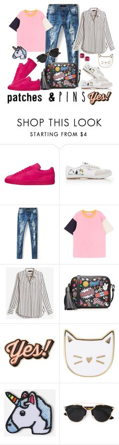 """""""Untitled #457"""" by ali-baly ❤ liked on Polyvore featuring Feiyue, White House Black Market, Anya Hindmarch, Des Petits Hauts, Hipstapatch, Christian Dior, Kate Spade and patchesandpins"""