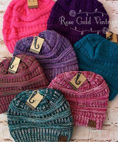Super soft women's knit beanie hats by CC. Available in many fabulous colors - the perfect cold weather accessory! 100% Acrylic, one size fits most. Also available with a Faux Fur Pom Pom on top here.