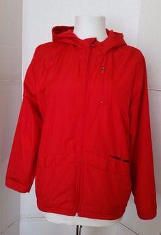 Under Armour Light Jacket Rain Fleece lined Red full zip Hood Junior YLG large #UnderArmour #BasicJacket