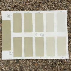 Chalk Paint® Versailles Custom Color Chart using Pure White and Old White. Read more on our blog at Suitepieces.com | Suite Pieces