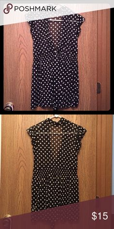 ⚫️ Polka Dot Blouse ⚫️ No snags or defects. Blouse has stretch waist. Comes from  free home. Lashes Tops Blouses