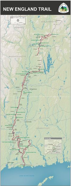 The New England National Scenic Trail: a 215-mile trail route.