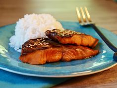 Grilled wild steelhead trout with teriyaki sauce. Fish Dishes, Seafood Dishes, Fish And Seafood, Seafood Recipes, Trout Fillet Recipes, Salmon Recipes, Teriyaki Glaze, Teriyaki Sauce, Side Recipes