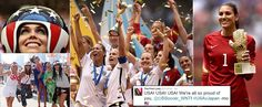 We are the champions! US women's soccer team smashes Japan 5-2 in World Cup final thriller to become first team EVER to win title three times - and Hope Solo wins best goalie award   Read more: http://www.dailymail.co.uk/news/article-3150525/We-champions-Hope-Solo-women-s-soccer-team-triumph-5-2-win-Japan-World-Cup-final-four-years-crushing-defeat.html#ixzz3f5aaEdIN  Follow us: @MailOnline on Twitter | DailyMail on Facebook