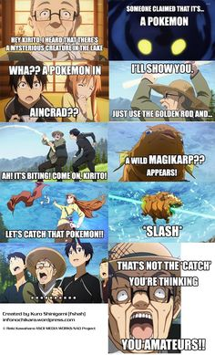 Sword Art Online/Pokemon crossover. (Asuna, you're doing it wrong.)