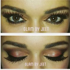 www.glambyjeet.com i am obsessed with these gorgeous green eyes! we did a smokey look using the stardust palette from TooFaced and Vegas Nay! I used super long lashes for extra drama and the client loved the touch of glitter from urban decay's space cowboy! book me in the DC area!