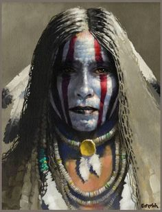 home | Robert C Osterloh western artist of Native American genre'.
