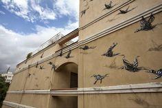 Dopo la bella parete a carattere storico dipinta a Porto Rico in occasione dell'eccellente Los Muros Hablan Festival di quest'anno, pare che DALeast si sia spostato a Malaga in Spagna per realizzare un altre delle sue eccellenti pareti all'interno del Maus Malaga Festival.