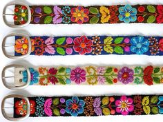 Embroidered belts from Peru.