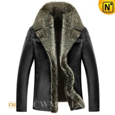 CWMALLS Fur Trim Shearling Leather Jacket CW855351 Gorgeous fur jacket for men crafted from supple raccoon fur trim, natural lambskin leather shell and thick and soft lamb fur shearling lining. Stylish and warm sheared raccoon fur gives you a jacket so sumptuous you won't want to take it off. www.cwmalls.com PayPal Available (Price: $1435.89) Email:sales@cwmalls.com