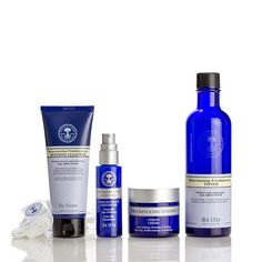 NYR Organic US - Deluxe Plus Frankincense Collection Blue Bottle, Vodka Bottle, Neals Yard Remedies, Just Amazing, Organic Beauty, Natural Skin Care, Cleanser, Serum, Essential Oils
