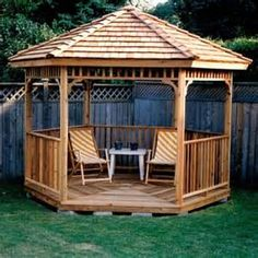 , Backyard Landscape Designs Gazebos Diy Deck Design Front Yard ...