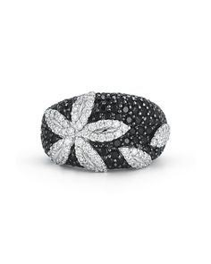 Fantasia Diamond and Black Sapphire Ring - Roberto Coin