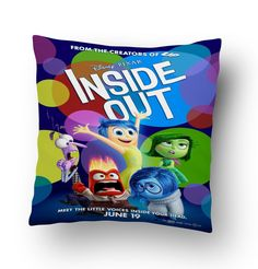 Disney Pixar Inside Out Movie Poster Pillow Cover