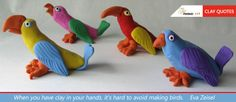 When you have clay in your hands, it's hard to avoid making birds. Eva Zeisel