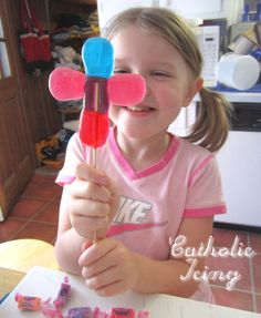Check out all of my First Communion Resources for Kids here. Check out all of my faith-based Easter crafts and recipies for kids here! I've been seeing diy jolly rancher pops around the internet, a...