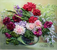 RIBBON ROSES AD FLOWERS