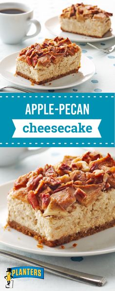 Apple-Pecan Cheesecake – Imagine a cheesecake topped with a scrumptious mashup of pecan pie and apple pie—sweet with brown sugar and fragrant with cinnamon. Like the idea? Check out this classic fall dessert recipe.