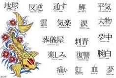 Letras japonesas para tatuajes...