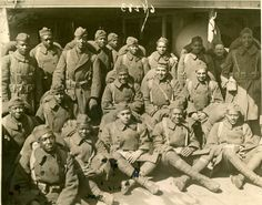 African American soldiers.  World War I