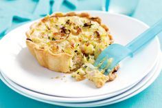 Vegetable And Bacon Quiches Recipe - change the veg to suit your taste.