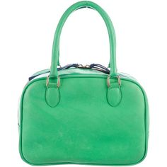 Pre-owned Clare V. Madeleine Petit Satchel ($175) ❤ liked on Polyvore featuring bags, handbags, green, satchel handbags, leather man bags, leather satchel handbags, satchel purses and man satchel bag