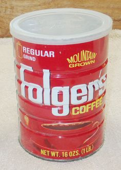 Electronics, Cars, Fashion, Collectibles, Coupons and Folgers Coffee, Coffee Cans, Grandma And Grandpa, Coffee Branding, 1 Pound, Vintage Coffee, Tins, Canning, Metal