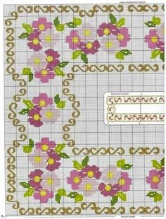 Cross Stitch Borders, Cross Stitch Flowers, Cross Stitch Designs, Cross Stitch Patterns, Beading Patterns, Knitting Patterns, Prayer Rug, Bargello, Fabric Painting
