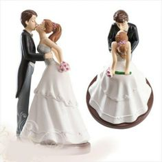 Esküvői tortadísz, nászpár / szeretlek/