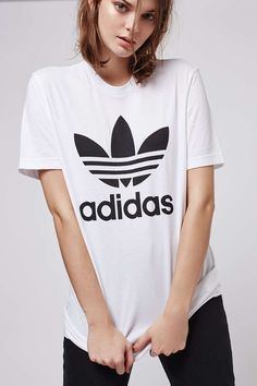 Trefoil Tee By Adidas - Tops - Clothing - Topshop USA