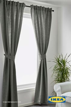 The densely woven fabric of IKEA BLEKVIVA curtains block sunlight from entering your favorite rooms while also ensuring your privacy. Choose from gray, white and beige curtains to find the set that matches each room in your home.