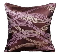 Designer Throw Pillows Cover 16x16 Purple by TheHomeCentric