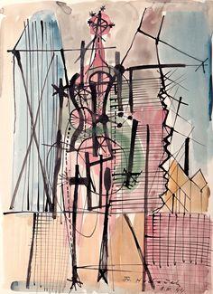 František Hudeček - Noční chodec Siena, Surrealism, Sculpture, Abstract, Illustration, Artist, Painting, Catalog, Summary