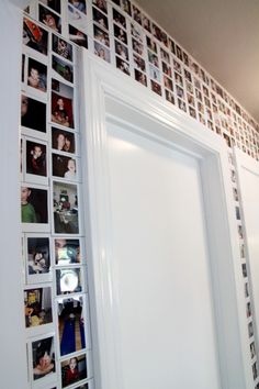 DIY Photo Wall - I would totally do this in my own house!