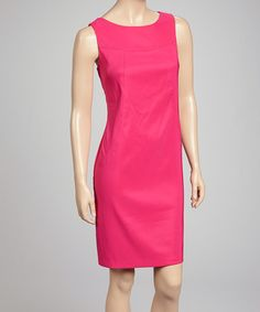 Take a look at this Pink Sleeveless Sheath Dress by AGB Dress on #zulily today!