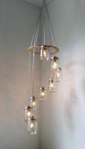 Mason Jar chandelier from BootsNGus