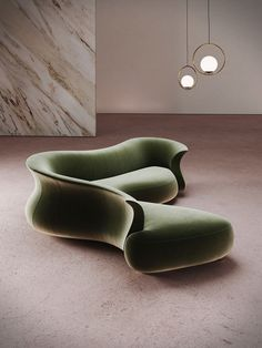 """the ""amphora corner"" curved sofa by DESFORMA — inspired by the shapes of a neolithic amphora"" Sofa Furniture, Furniture Design, Sofa Beds, Hallway Decorating, Decorating Small Spaces, Sofa Design, Curved Sofa, Home Remodeling Diy, Design Reference"