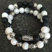 Bracelet Duo Black Artisanal, Beaded Bracelets, Rock, Jewelry, Statement Bracelets, The Divine, Jewlery, Jewerly, Pearl Bracelets