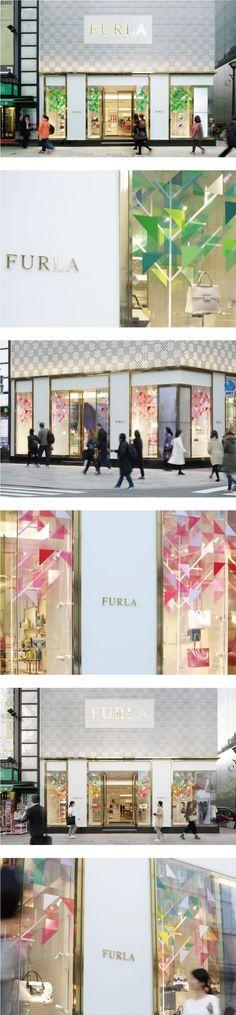 「flowering kaleidoscope」 FURLA銀座店 デザイン:エマニュエル・ムホー  #ウィンドウディスプレイ #windowdisplay…