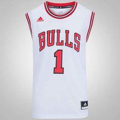 Camiseta Regata adidas NBA Chicago Bulls Home Rose - Masculina Adidas Nba dbfa37a86f4