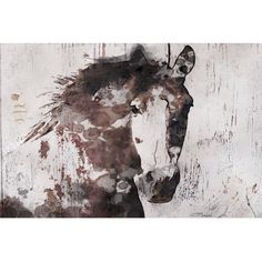 Marmont Hill   Gorgeous Horse By Irena Orlov Painting Print On Wrapped  Canvas