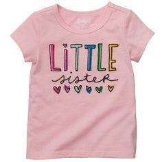 "Osh Kosh B'gosh sweet ""Little sister"" graphic tee. $14.00"